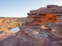 Окно природ на национальном парке Kalbarri, западной Австралии Стоковая Фотография