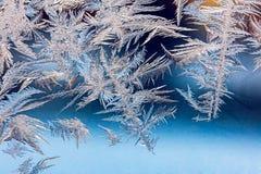 Окно рождества замерли зимой, который Стоковое фото RF