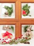окно рождества праздничное Стоковые Изображения
