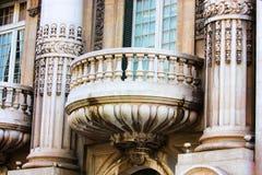 окно сбора винограда балкона стоковые фото