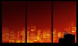 окно серии подарков предпосылки иллюстрация вектора