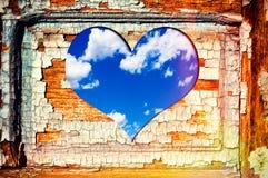 Окно сердца Стоковая Фотография RF