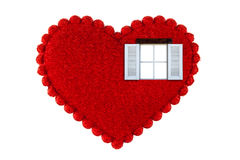 Окно сердца Стоковое Изображение