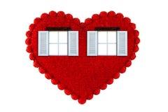 Окно сердца Стоковое Изображение RF