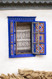 Окно сини открытое стоковые изображения
