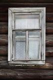 Окно старого сельского дома журнала Стоковое фото RF