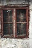 Окно старого grunge деревянное Стоковая Фотография