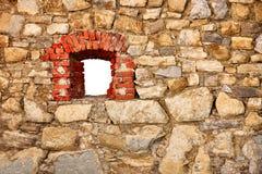 окно стены замока старое Стоковое Изображение RF