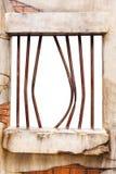 окно стены тюрьмы кирпича Стоковая Фотография RF