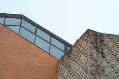 окно стены mesuem кирпича стеклянное Стоковые Изображения RF