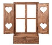 Окно с сердцем Стоковое Изображение RF