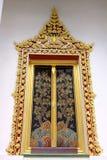 Окно тайского королевского посвящения Hall от Nonthaburi стоковое фото rf