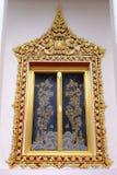 Окно тайского королевского посвящения Hall от Nonthaburi стоковая фотография rf