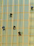 окно уборщиков Стоковые Изображения RF