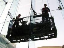 окно уборщиков Стоковые Фото