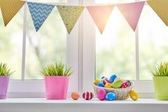 Окно украшая на праздник Стоковые Фото