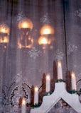 окно украшения рождества доски Стоковые Фотографии RF