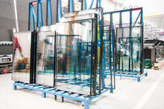 окно фабрики стеклянное стоковое фото