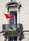 окно флага богато украшенный въетнамское стоковое фото rf