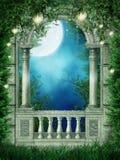 окно фонариков фантазии иллюстрация штока