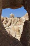 Окно формы сердца естественное в национальном парке дерева Иешуа Стоковое фото RF