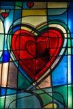 Окно формы сердца стеклянное Стоковая Фотография RF
