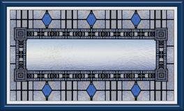 Окно цветного стекла в рамке с пустым содержанием иллюстрация штока