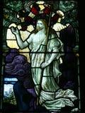 Окно цветного стекла Иисуса Христа Стоковые Изображения