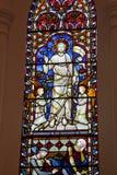 Окно цветного стекла церков стоковая фотография rf