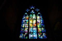 Окно цветного стекла Стоковое Изображение RF