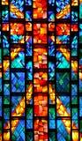 окно церков запятнанное стеклом Стоковое фото RF