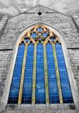 Окно церков стеклянное Стоковые Изображения RF