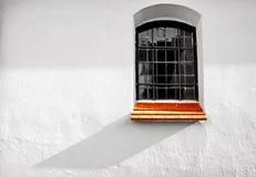 Окно церков с тенями Стоковая Фотография