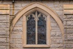 Окно церков St Mark объединенной методист, Атланты, США Стоковое Изображение