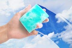 окно чистки Стоковое Изображение