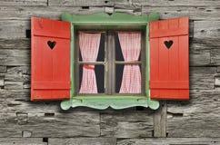 Окно шале стоковые изображения