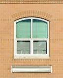 окно шторок зеленое Стоковая Фотография RF