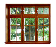 окно дуба деревянное Стоковое фото RF