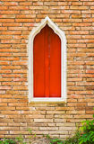 окно brickwall старое Стоковое фото RF
