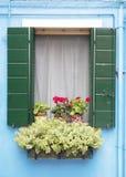 Окно Burano Стоковые Изображения