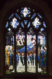 Окно Burne-Джонса показывая сцену рождества Стоковые Фото