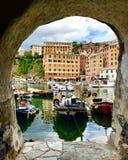 Окно Camogli стоковые фотографии rf