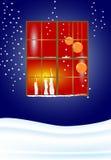 окно candels иллюстрация вектора