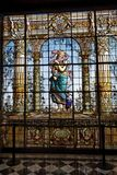 окно chapultepec замока стеклянное Стоковые Изображения RF