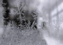 Окно Frost зимы, картина Frost Стоковое фото RF
