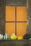 окно gourds старое деревянное стоковое фото rf