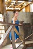окно liberec девушки замока предпосылки Стоковые Фото