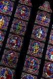 окно notre dame собора стеклянное запятнанное paris Стоковые Фотографии RF
