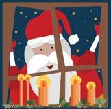 окно santa клаузулы Стоковое Фото