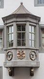 Окно Stein am Rhein Швейцарии Стоковая Фотография